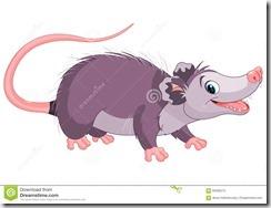 opossum-clipart 01